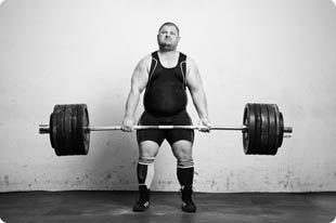 Dicker Gewichtheber